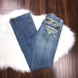 Miss Me Camo Embellished Bootcut Denim Jeans